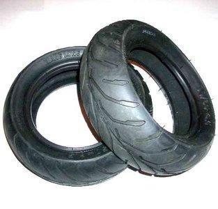 Voorband (soft) - 90/65-6,5 + Achterband (soft) - 110/50-6,5 - SET - V-profiel