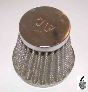 Luchtfilter Standaard - voor de standaard (14mm) carburateur - bevestigingsdiameter: 58mm