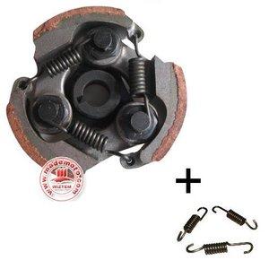 Standaard koppeling voor alle 47cc / 49cc minibikes met BETERE schoentjes (bruin) en met EXTRA set veren, type Extra Sterk