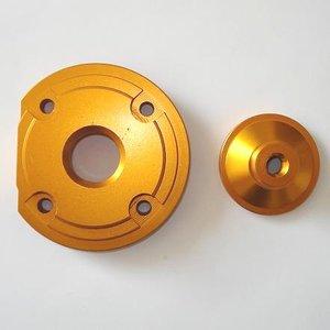 Hogedrukkop voor de bigbore kits - aluminium - kleur: BLAUW